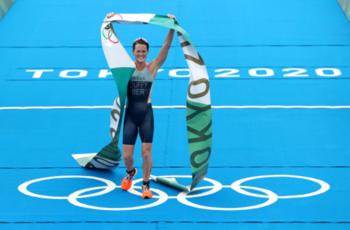 东京奥运会  女子铁人三项 百慕大夺史上奥运首金